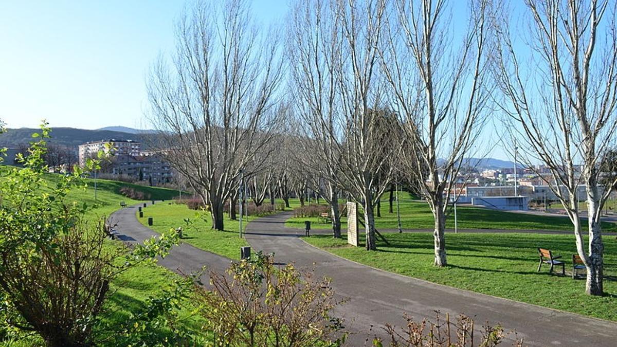 Parque de Basauri en el que ocurrió la agresión homófoba