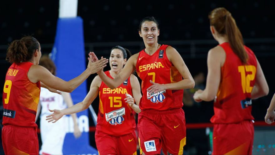 Jugadoras de la selección española de baloncesto en el Eurobasket 2015