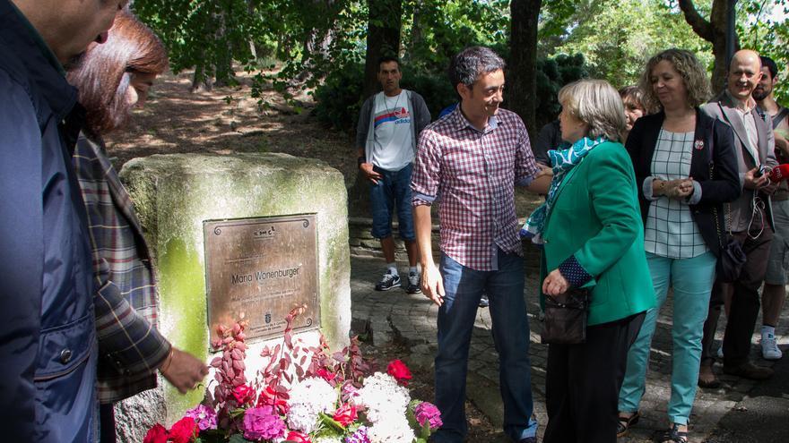 Xulio Ferreiro, alcalde de A Coruña, este domingo en el homenaje a María Wonenburger