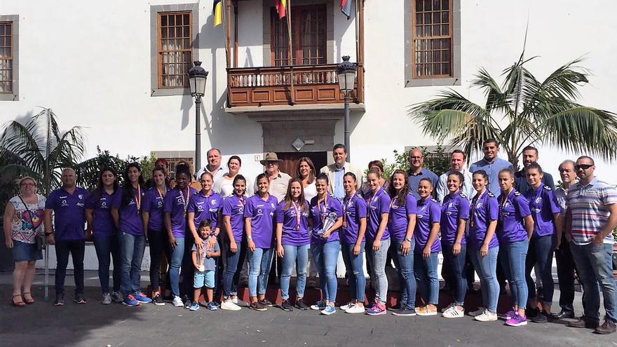 El Rocasa Gran Canaria en el Ayuntamiento de Telde.