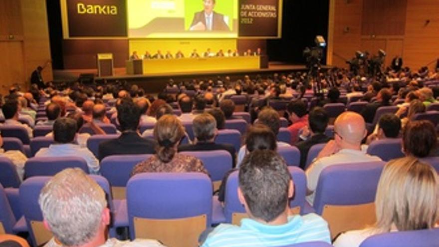 Junta General De Accionistas De Bankia Que Se Celebra En Valencia