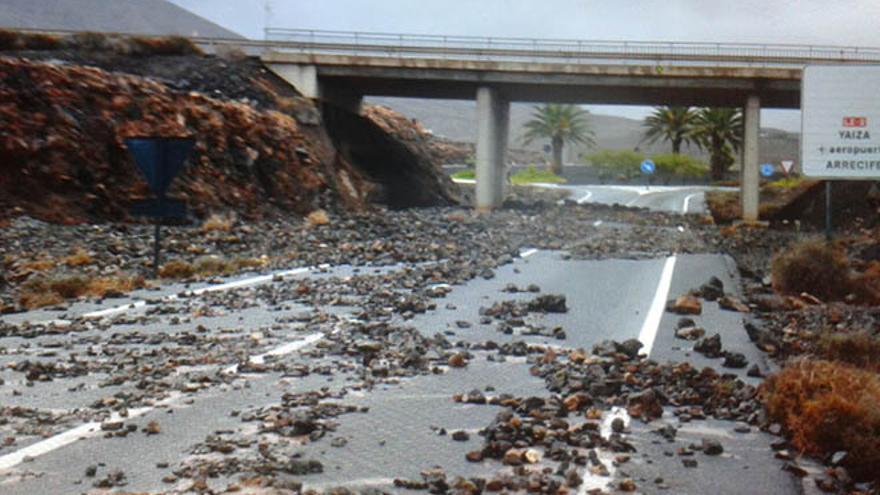 Imagen de cómo estaba la carretera en la mañana del viernes / Foto: Cedida.