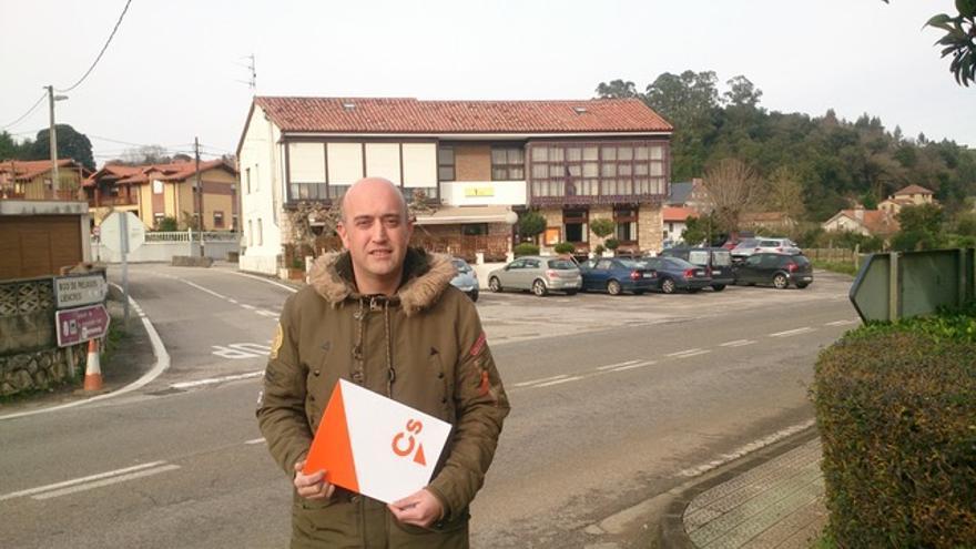 El portavoz de Ciudadanos (Cs) Piélagos, Raúl Conde.