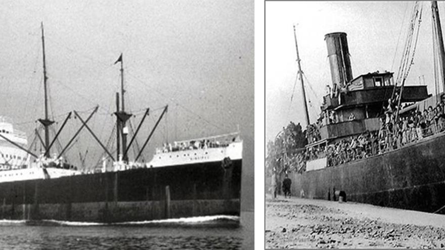 Los buques Winnipeg y Stambrook. | BARCOS DEL EXILIO REPUBLICANO ESPAÑOL