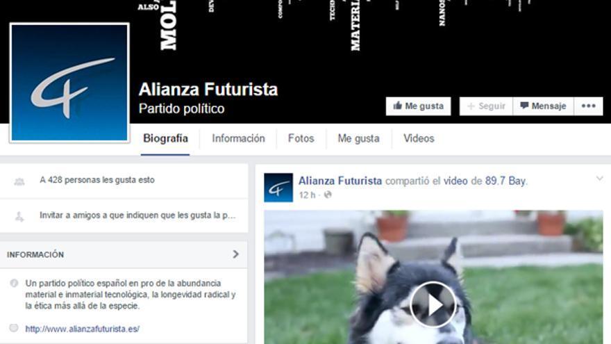 La página de Facebook de Alianza Futurista