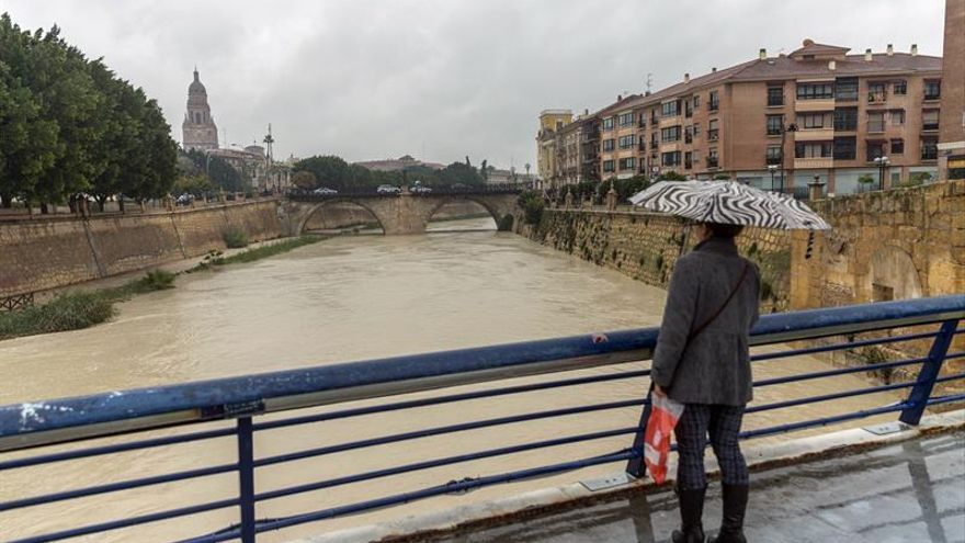 Murcia activa nivel 2 del plan inundaciones y solicita intervención de la UME
