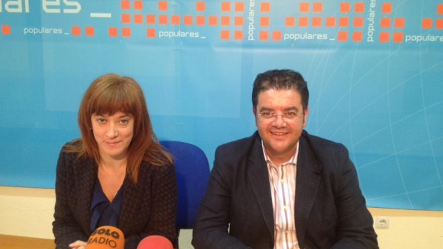 A la izquierda, Irene Moreno, concejal de Hellín (Albacete) y diputada nacional / Foto: PP Hellín