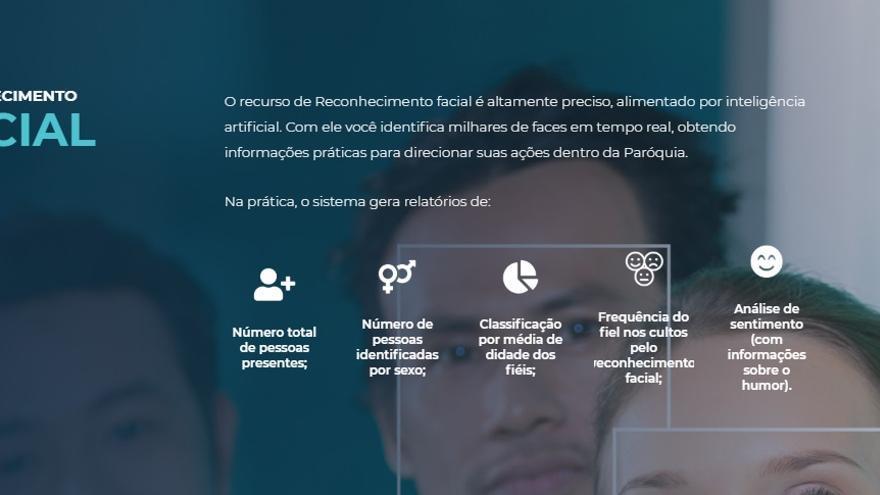 La web de Igreja Mobile ofrece los servicios de reconocimiento facial