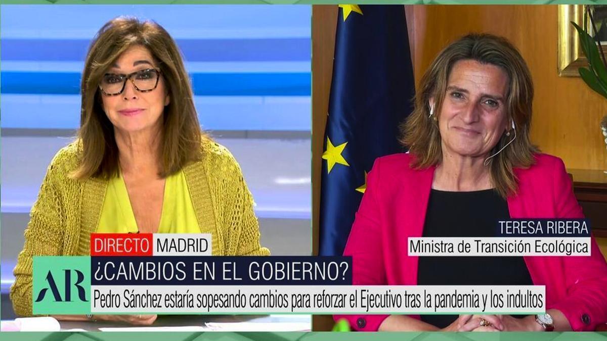 Ana Rosa Quintana y Teresa Ribera en 'El programa de AR'