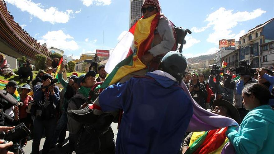 Discapacitados cumplen 2 semanas de protestas en La Paz para exigir un bono