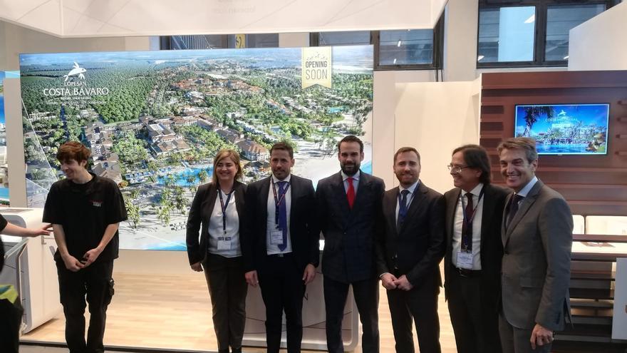 El stand de Lopesan en la Bolsa Internacional de Turismo de Berlín de 2019, que visitaron representantes del Gobierno de Canarias como el consejero de Turismo, Isaac Castellano.