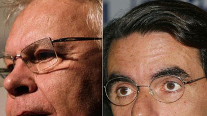 Felipe González y José María Aznar. (EUROPA PRESS)