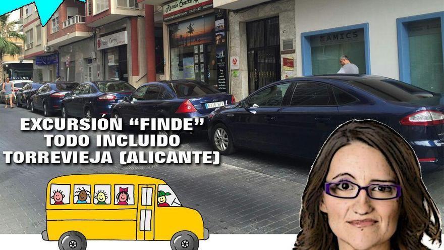 Montaje difundido por el PP y algunos de sus simpatizantes para criticar una reunión de trabajo del gobierno valenciano.