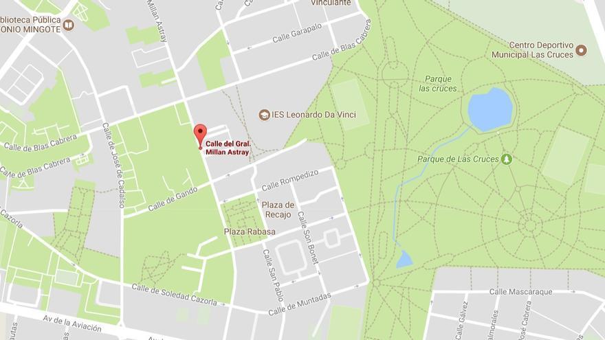 La madrileña calle Millán Astray reaparece en el callejero de Google
