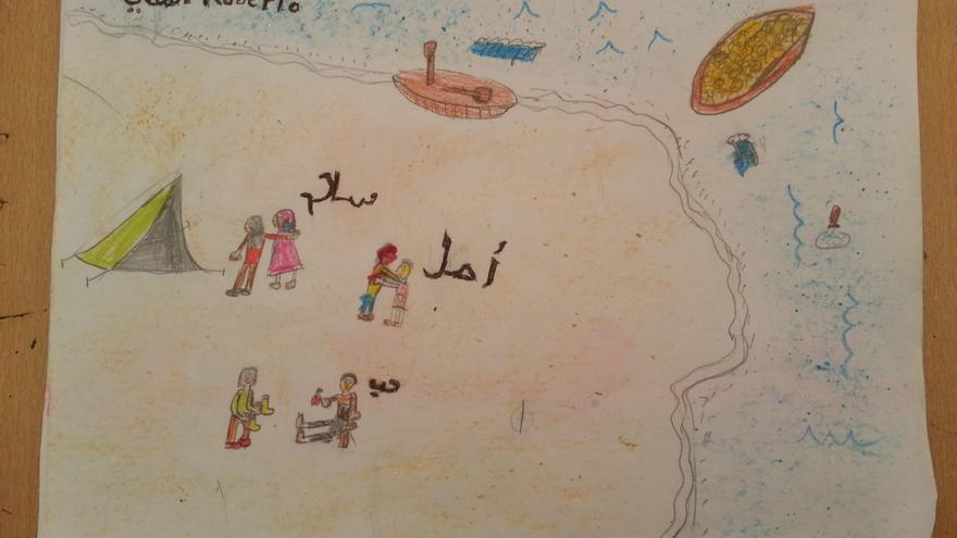 Dibujo que ha llegado al campo de Picka desde Mairena del Alcor
