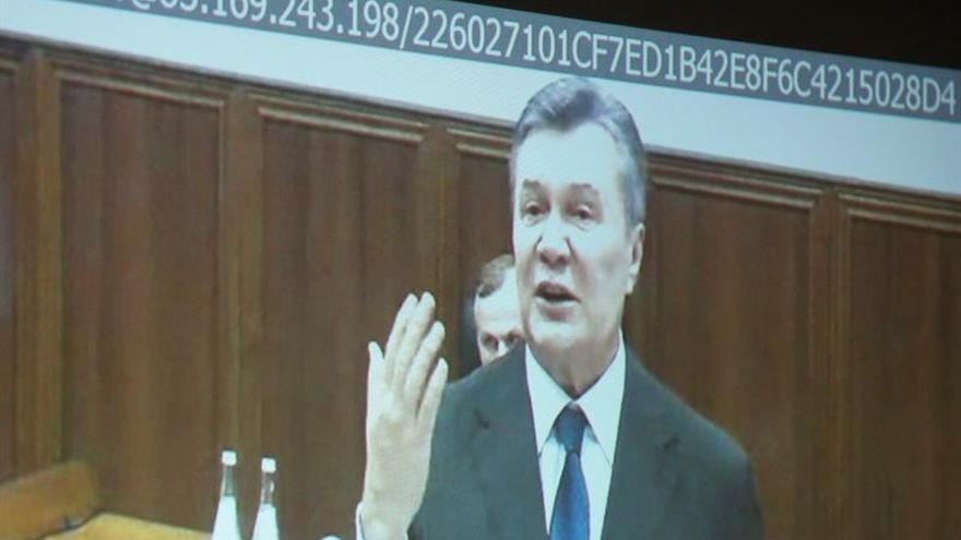 Yanukóvich declara por videoconferencia en el juicio en Kiev por disturbios