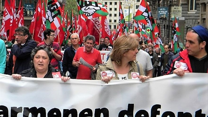 Manifestación convocada por UGT.