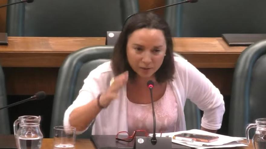 Carmen Rouco, en la Comisión de Acción Social y Familia.