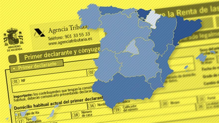 Mapa de los impuestos autonómicos