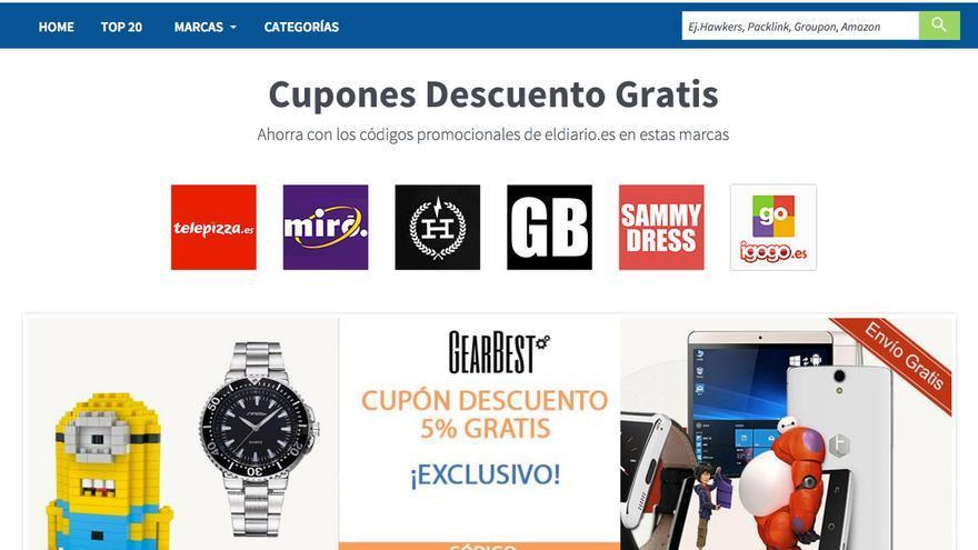 Nueva sección de cupones descuento en eldiario.es