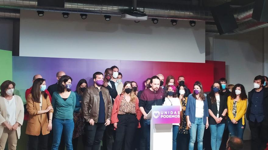 """El candidato de Unidas Podemos a la Presidencia de la Comunidad de Madrid, Pablo Iglesias., deja todos los cargos en Podemos y no será diputado por """"haberse convertido en un chivo expiatorio"""""""
