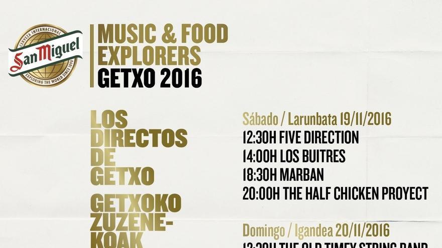 """Grupos de Getxo actuarán este fin de semana en el Puerto Viejo de Algorta en """"San Miguel Getxo Music & Food"""""""