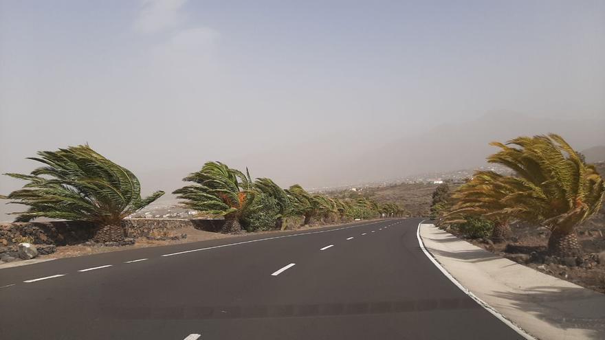 Viento y calima este domingo en el Valle de Aridane.