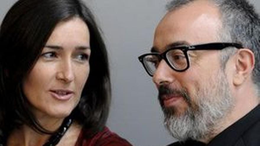 Álex de la Iglesia con Ángeles González Sinde.