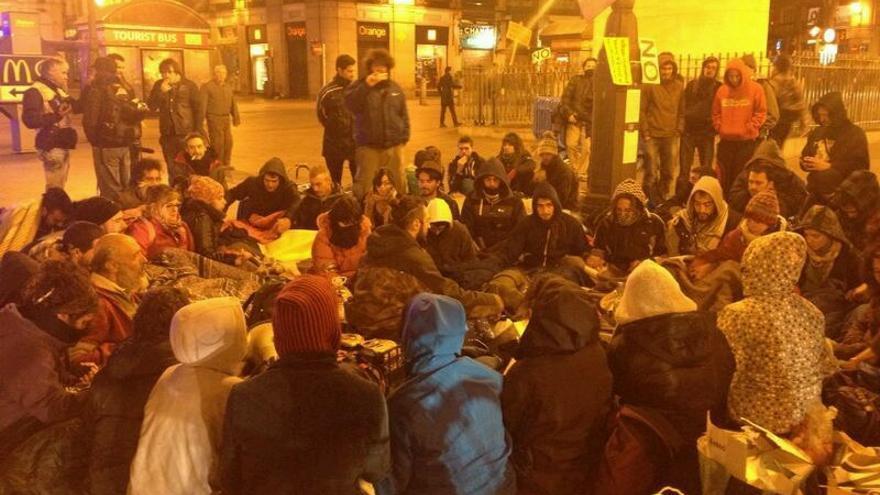 Imagen de la acampada a las 2 de la madrugada / Gabriela Sánchez
