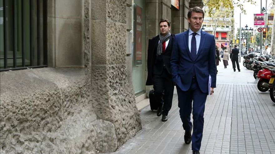 """Feijóo cree que es un """"buen día"""" para tender puentes de diálogo con Cataluña"""