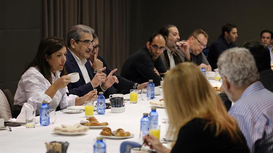 Román Rodríguez, en el desayuno informativo celebrado este viernes. (EFE)