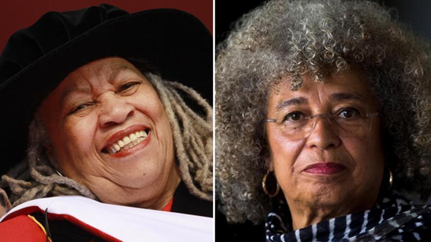 A la izquierda: Toni Morrison. A la derecha: Angela Davis