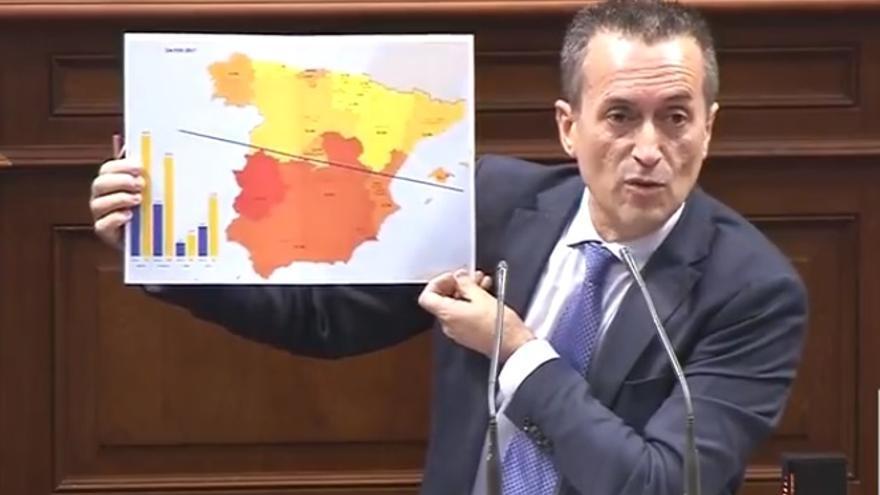 El portavoz del grupo nacionalista canario, José Miguel Ruano.