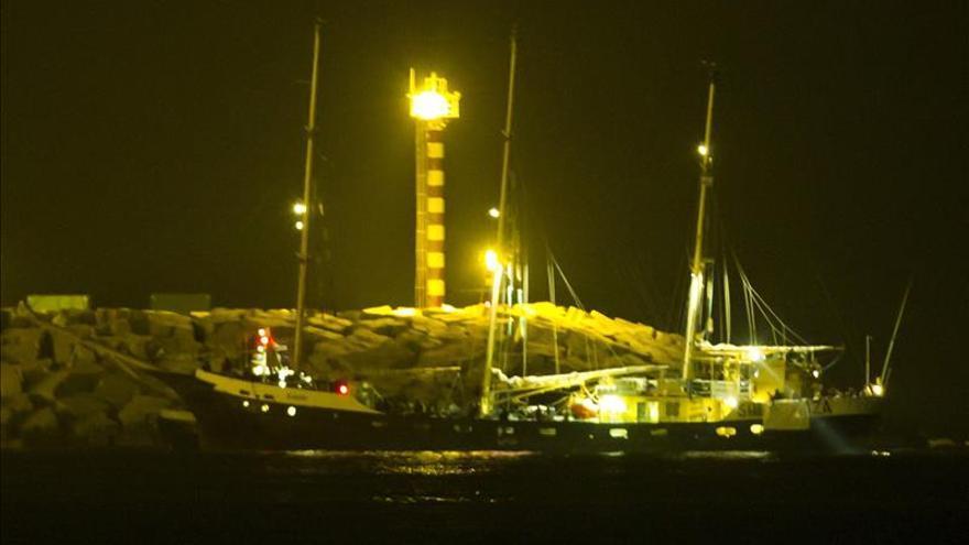 "Vista de un velero, perteneciente a la ""Flotilla de la Libertad"". / Efe."