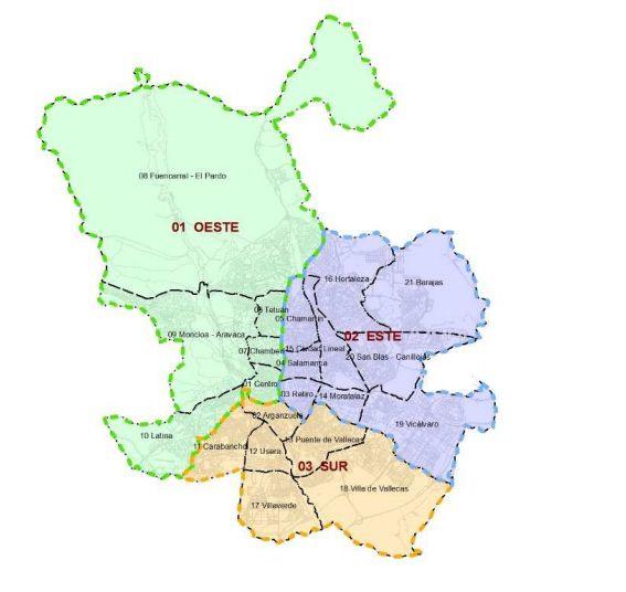 Zonas en las que se reparte la recogida de reciclaje a partir del 1 de noviembre