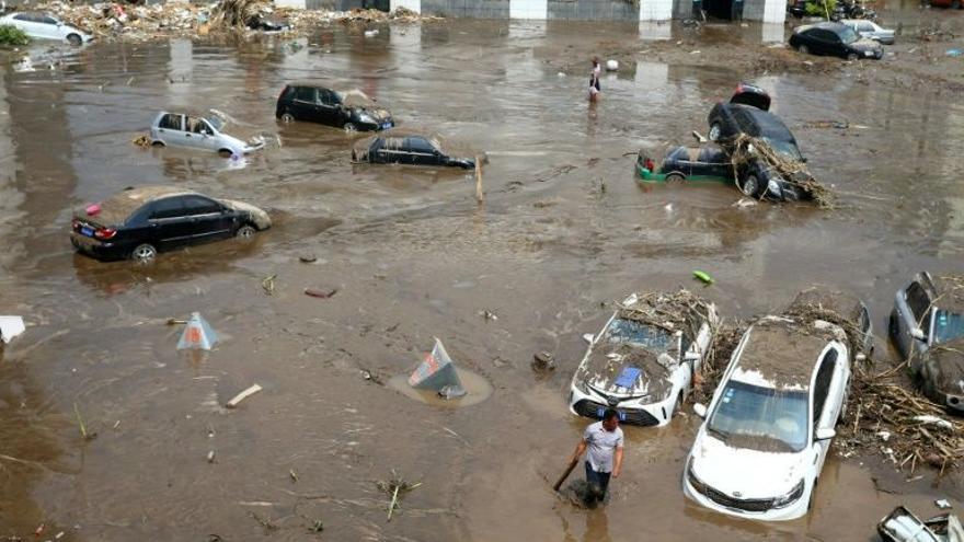Efecto de las inundaciones en el norte de Bangladesh