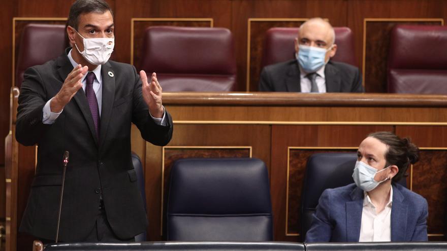 El presidente del Gobierno, Pedro Sánchez, interviene durante una nueva sesión de control al gobierno en el Congreso de los Diputados.