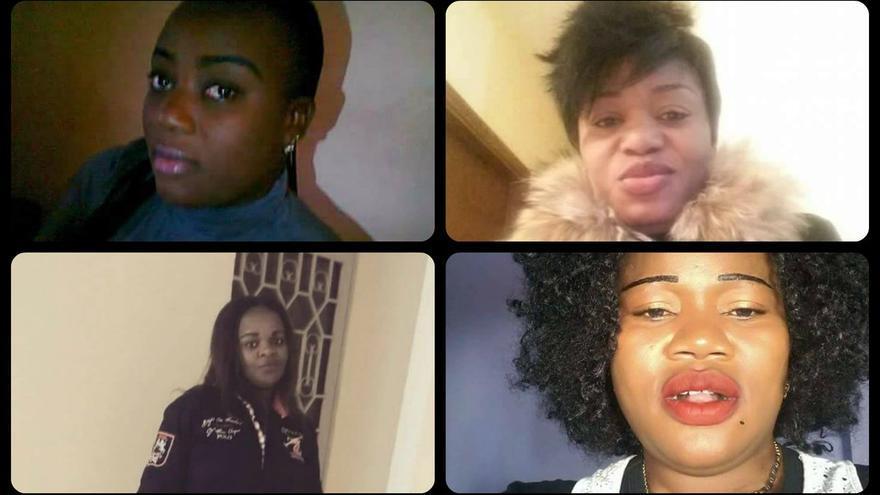 Cuatro de las mujeres congoleñas que murieron ahogadas ante agentes de la Guardia Civil de España y de la Marina Real de Marruecos.