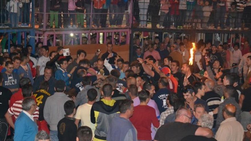 Celebración del bou embolat en Xàbia
