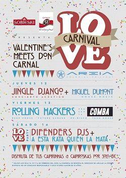 Cartel Areia love carnival