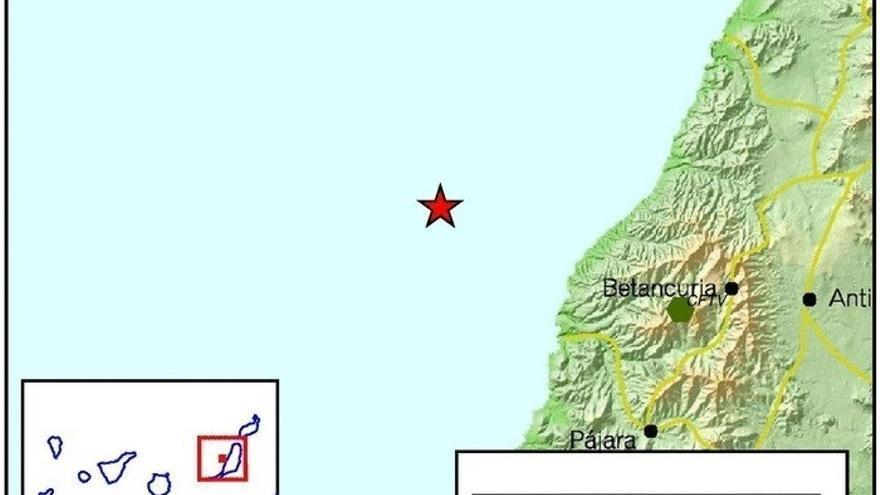 Movimiento sísmico en la isla de Fuerteventura.