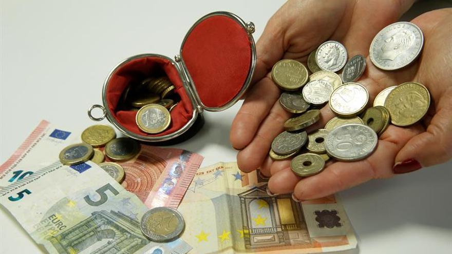 El importe de pesetas sin cambiar se mantiene en 1.644 millones en septiembre