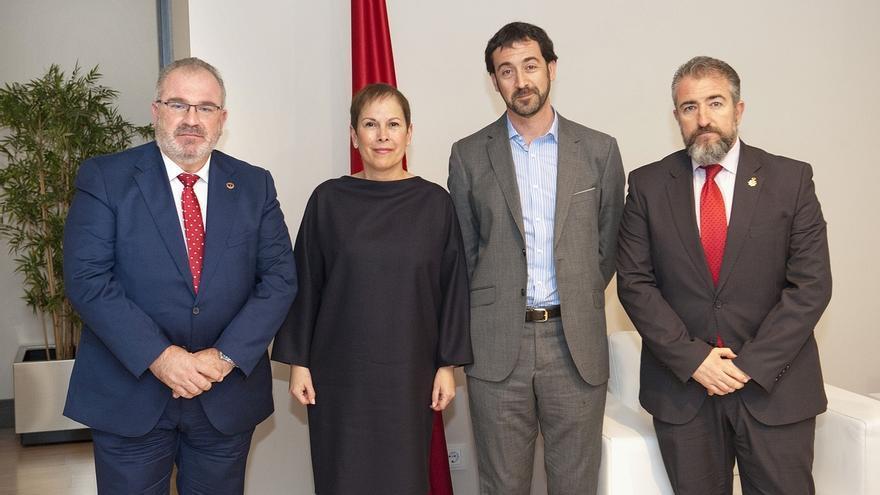 Barkos recibe al presidente de la Asociación de Víctimas del Terrorismo (AVT)