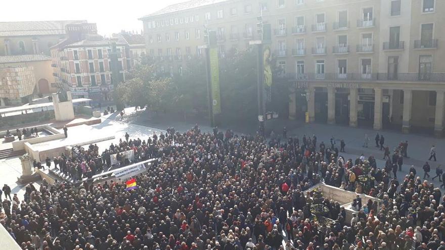 La concentración en Zaragoza.
