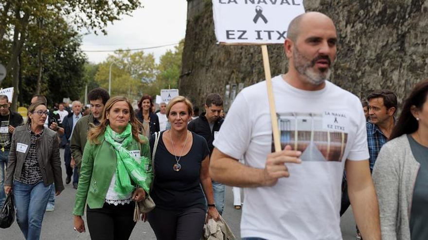 Miles de manifestantes piden la continuidad del astillero de La Naval