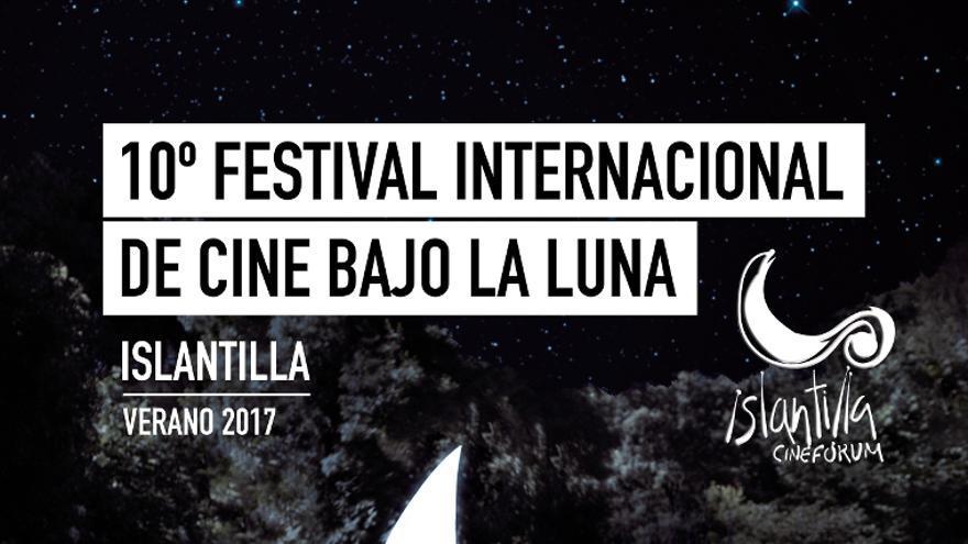 Cartel de la décima edición del Festival Internacional de Cine Bajo la Luna.