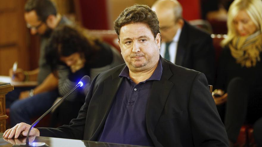 El ex edil de Majadahonda José Luis Peñas, que destapó con sus grabaciones la supuesta trama corrupta del Gürtel, durante su declaración en la pieza del caso Gürtel por las contrataciones de la Generalitat en Fitur
