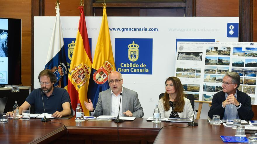 Antonio Morales presenta la inversión para recuperar el paisaje de la GC-2