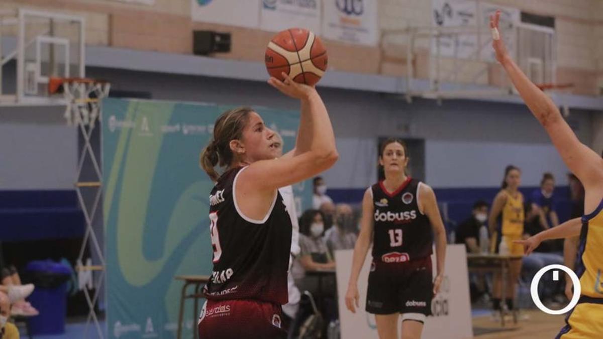 Marta Martínez, en un partido del Córdoba BF