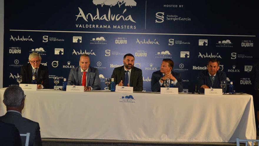 Presentación del Andalucía Valderrama Masters, que reunirá a jugadores profesionales del más alto nivel del 19 al 22 de octubre en San Roque